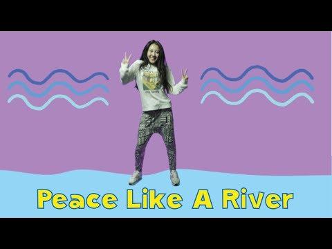Peace Like A River | Kids Worship Motions with Lyrics | CJ and Friends