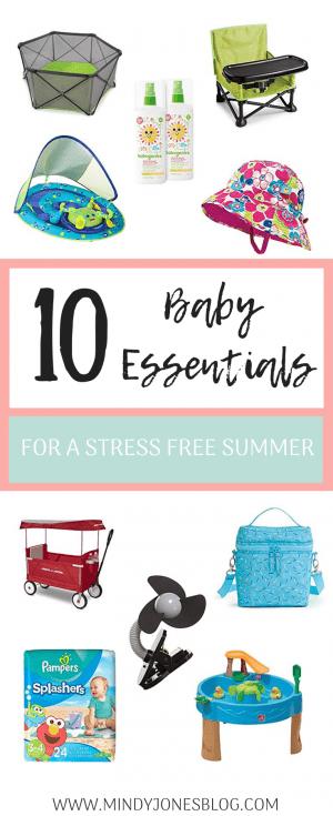 10 Baby Essentials Summer
