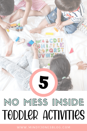 5 no mess toddler activities free printable