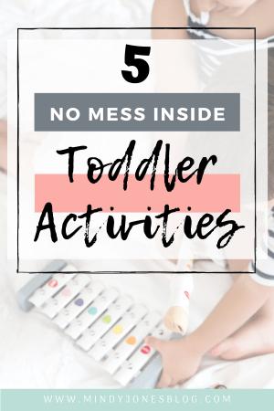 5 no mess toddler activities free printable