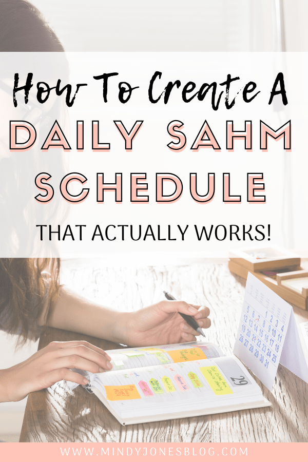 Daily stay at home mom schedule