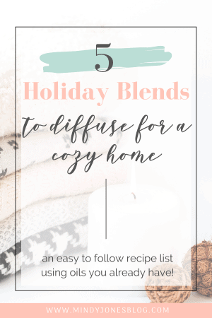 5 oil blends to diffuse this holiday season