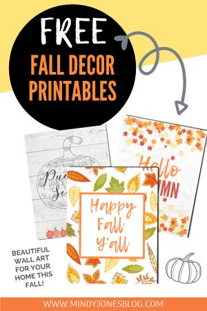 Free Fall Decor Printables