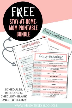 stay at home mom bundle printables