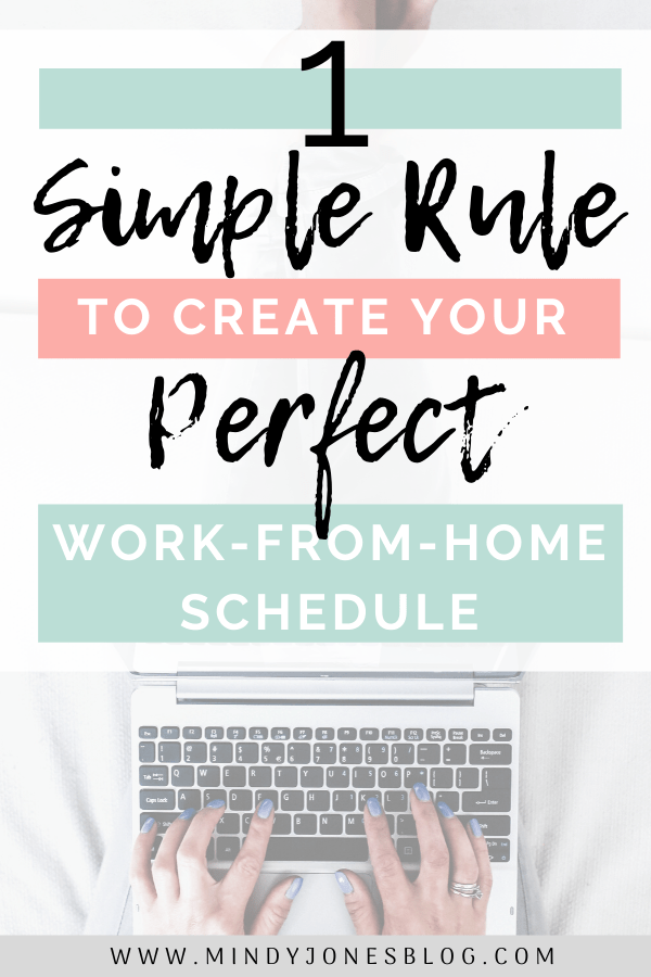 simple work from home schedule
