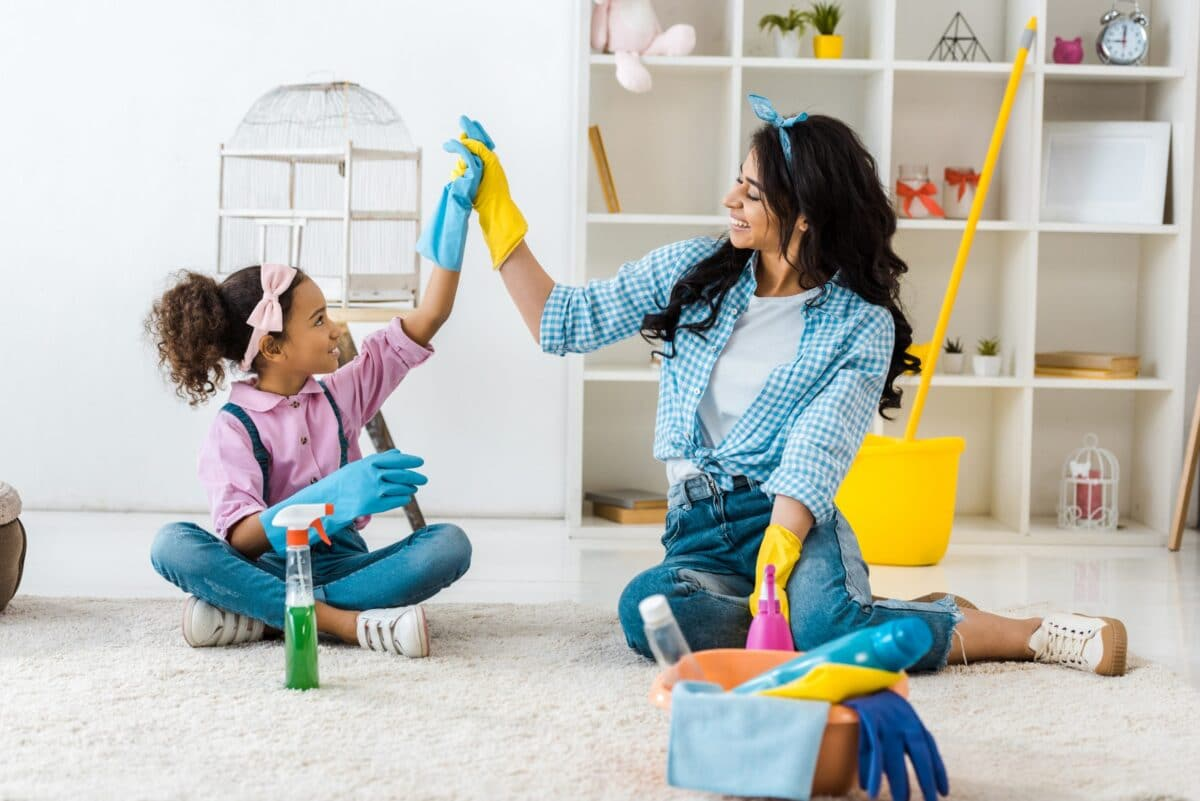 Easy Cleaning Schedule For Stay At Home Moms + Free Checklist