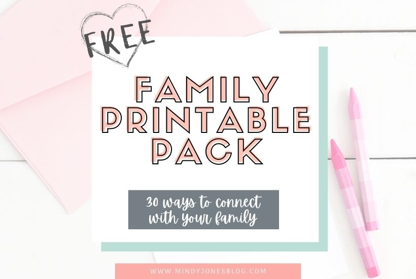 Free Family Printables: 30 Ways To Connect As A Family