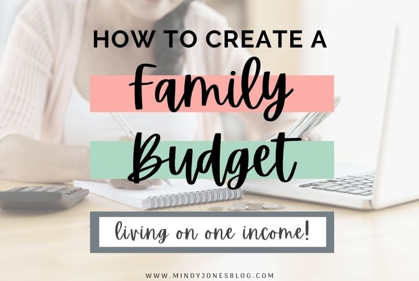 How To Make A One Income Family Budget