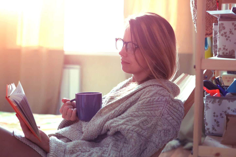 christian mom reading in morning
