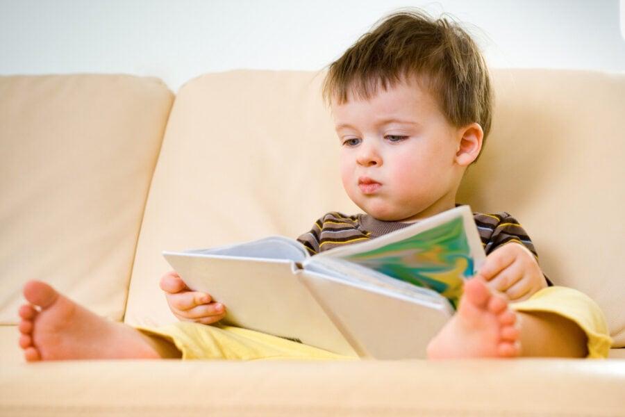 child reading bible storybooks