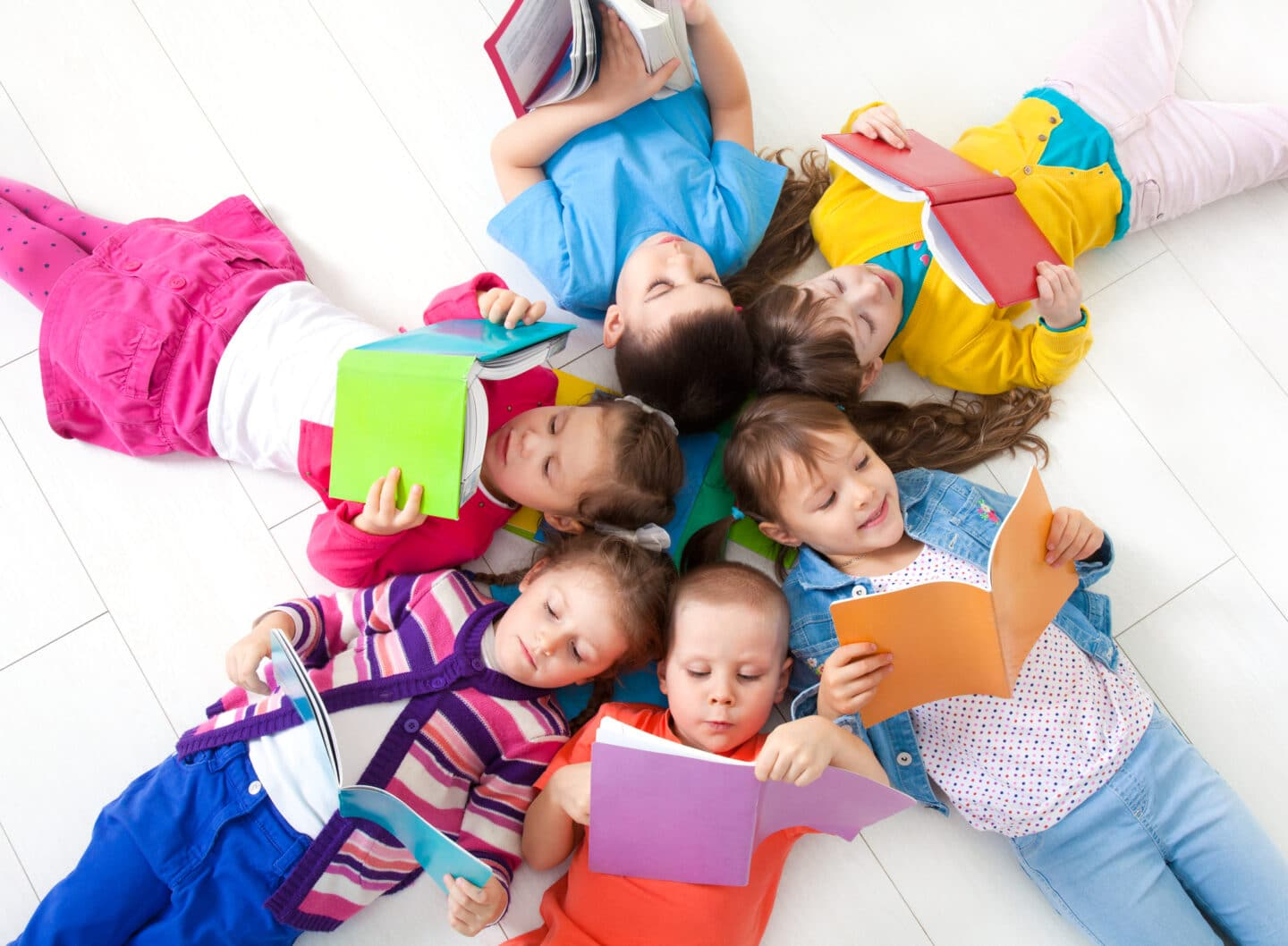 kids faith reading together