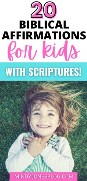 biblical affirmations for kids