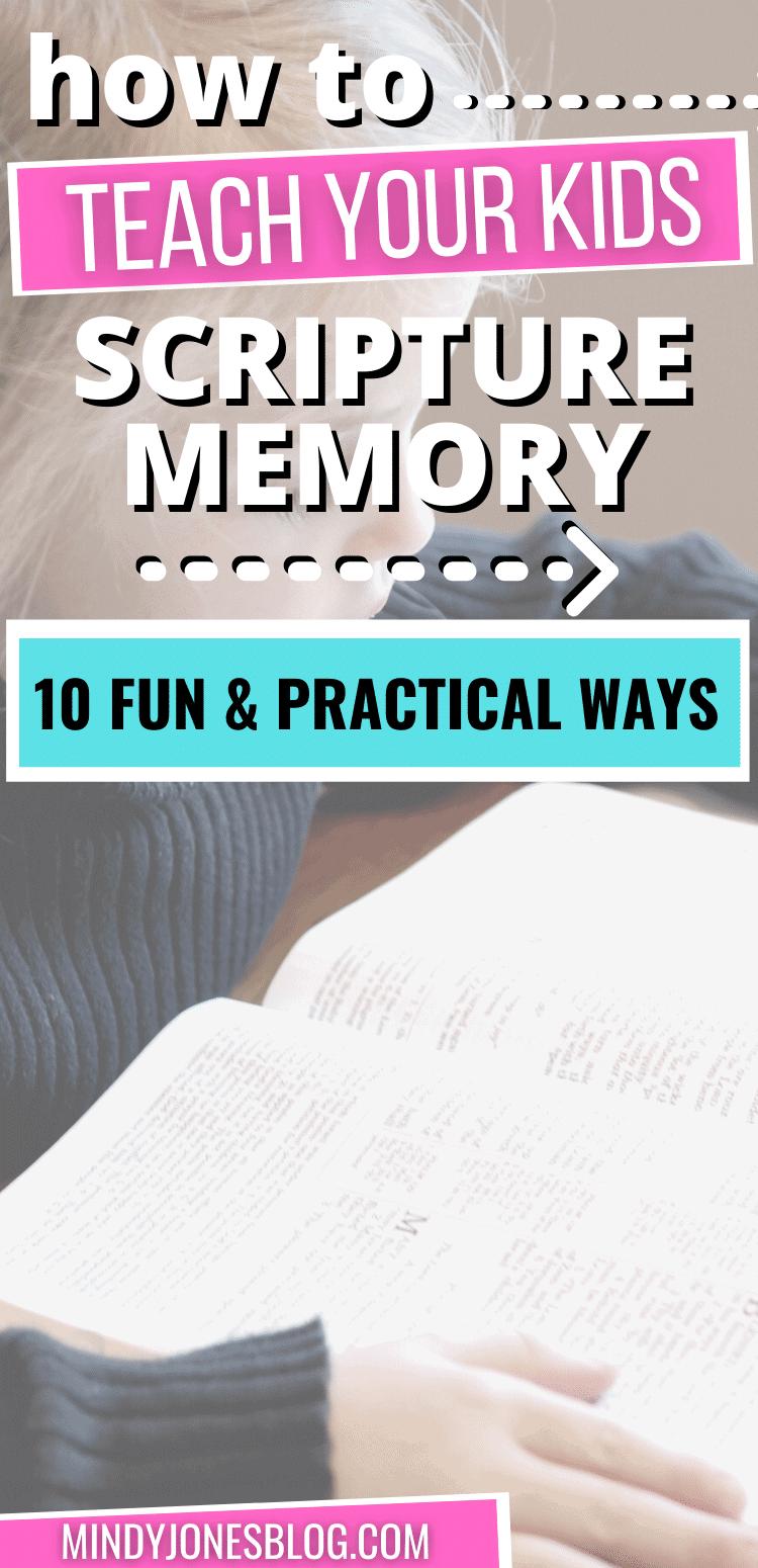 teach your kids to memorize bible verses