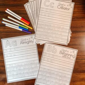 Bible Verse Alphabet Printable Tracing Pages