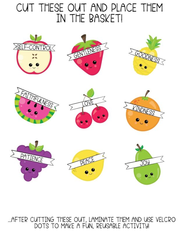 fruit of the spirit printable activity