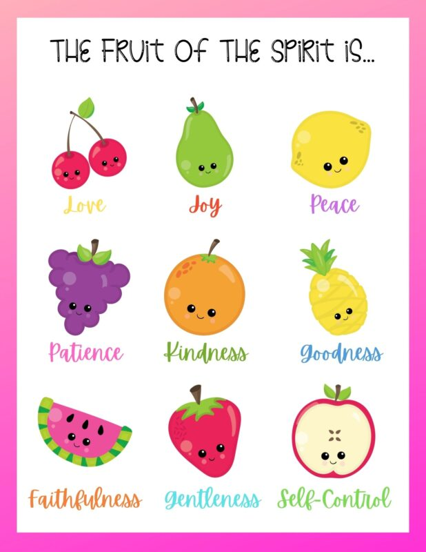 fruit of the spirit printable wall art