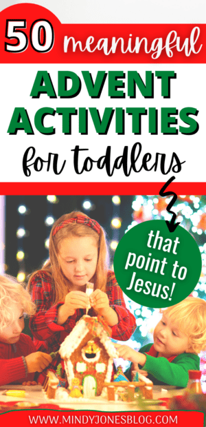 advent activities for toddlers and families