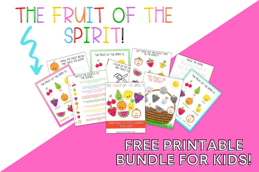 Fruit Of The Spirit Printables