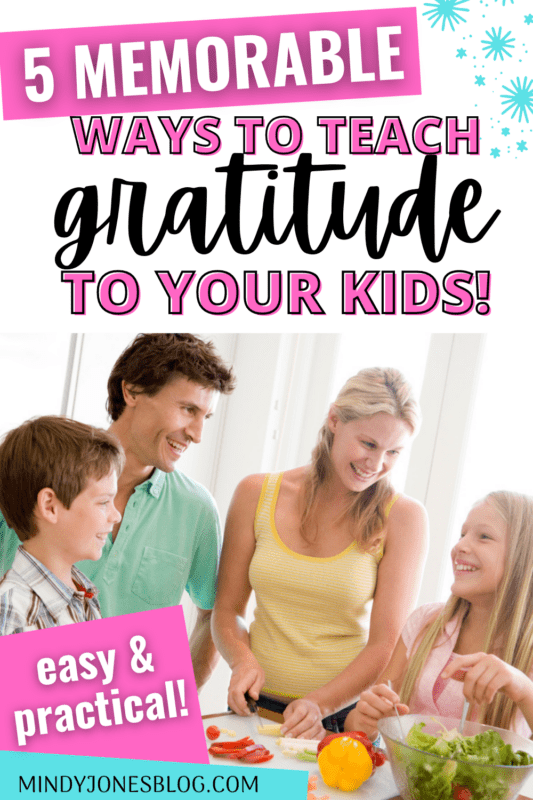 teaching gratitude to your kids