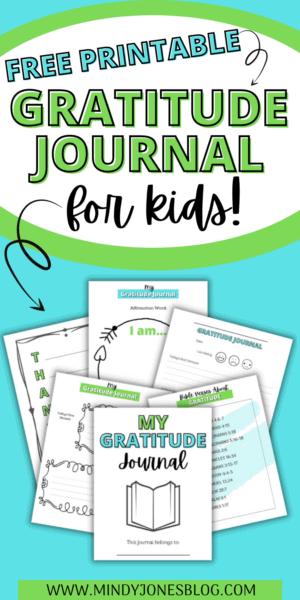 free printable gratitude journal for kids