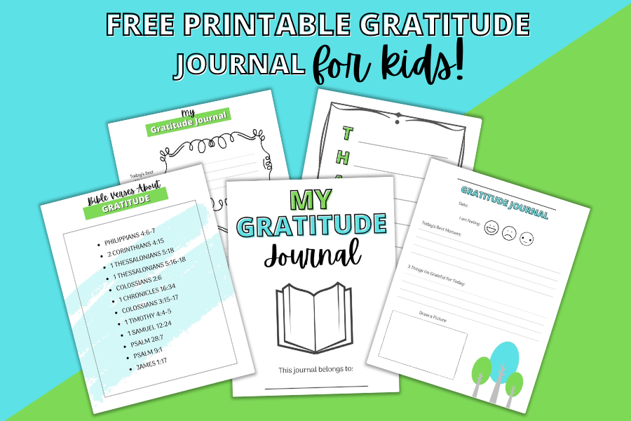 Free Printable Gratitude Journal For Kids {6 Pages}