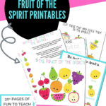 fruit of the spirit printables activity