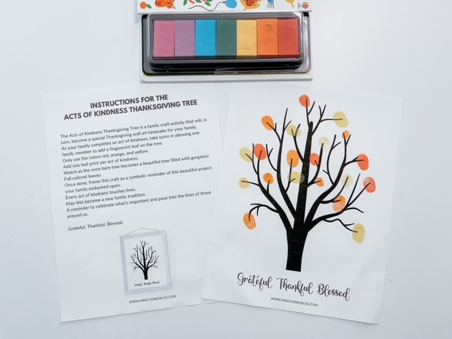 Beautiful Acts Of Kindness (Finger Paint) Tree Craft For Kids!
